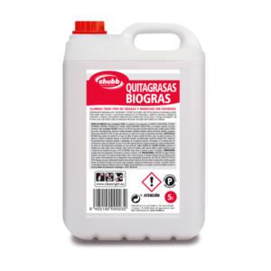 desengrasante biogras 5l profesional chubb