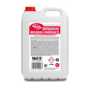 quitagrasas biogras enérgico 5l 25l profesional limpieza chubb